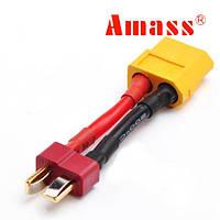 Накопить XT60 женщина Т плагин мужской адаптер кабель батареи 14 AWG 3 см