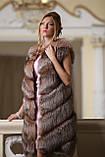 """Шуба меховое пальто из чернобурки """"Азиза"""" silver fox fur coat jacket, фото 5"""