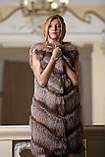 """Шуба меховое пальто из чернобурки """"Азиза"""" silver fox fur coat jacket, фото 6"""