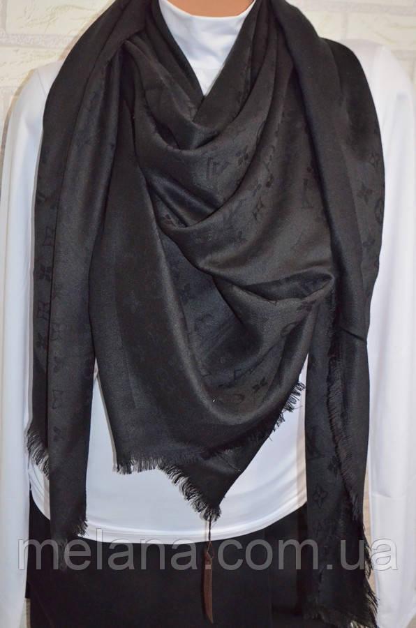 Платок шаль в стиле Louis Vuitton (Луи Витон) черный - Интернет-магазин  женской 93420232938