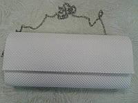 Женский клатч белый красивый стильный (Турция)