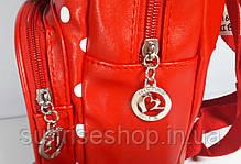 Рюкзак детский для девочки красный с наружным карманом, фото 3