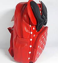 Рюкзак детский для девочки красный с наружным карманом, фото 2