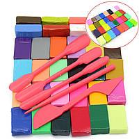 Детские Дети 3d мягкие рукоделие красочные поделки печь печет полимерной глины блок моделирования литья пластилин набор инструментов