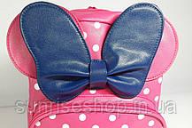 Рюкзак детский для девочки малиновый с наружным карманом, фото 3