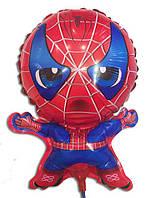 Воздушные шары из фольги Человек Паук на палочке 40 * 30 см