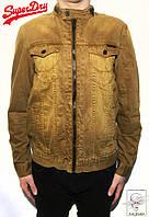 Джинсовая куртка Super Dry Оригинал р. L 50 вельветовая коричневая мужская без капюшона весенняя