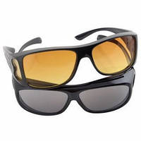 Очки для водителя антибликовые HD Vision 2 шт. для дня и ночи, 1001847, очки для водителя, очки водителя, ночные очки для водителей, очки антифары