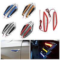 1 пара Универсальный клинок LED Авто Стальной кольцевой свет Fender Поверните сигнал боковой свет