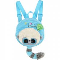 Мягкая игрушка-рюкзак Aurora Yoohoo Лемур голубой 18 см (90773A)