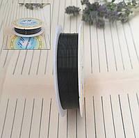 Проволока для плетения бисером, черная, 0,3 мм, 25 м/катушка