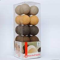 Гирлянда Cottonballlights 20 шаров Brown Style