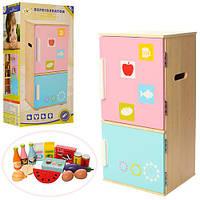 Детский деревянный холодильник (аналог KidKraft) арт. 1065