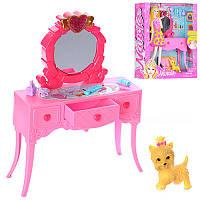 Мебель 85119 трюмо 23 см, собачка, музыка, свет, аксессуары, на батарейке (табл), в коробке