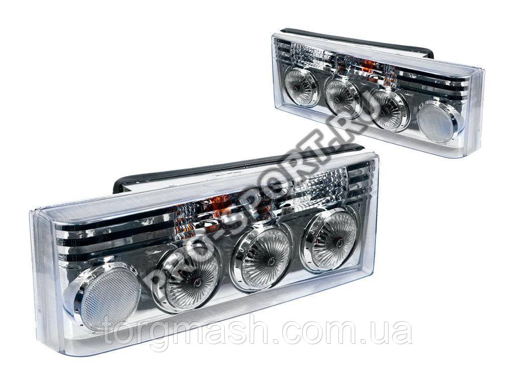 Задние фонари ВАЗ 2108, 2109, 21099, 2113, 2114 в хромированном корпусе RS-01934 pro-sport