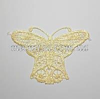 Кружевная бабочка, 7 х 8,5 см, цвет кремовый