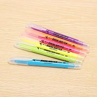 Genvana 6 цвет в окно флуоресцентный пера двухконцевой маркера маркер
