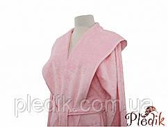 Халат махровий c капюшоном бавовна/бамбук Irya Tender Pembe рожевий s/m