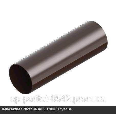 Труба водостічна INES 80мм 3м, білий (5 шт/уп.) (шт)