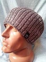 Молодежная мужская шапка adidas светло-серая