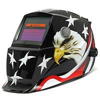 Орел звезды самозатемняющимися солнечной сварщика маски шлем электросварочные аргонодуговой МиГ сварщик линзы маски черный