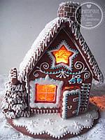 """Пряничный домик с елкой и дымоходом """"Скоро Новый год!"""", фото 1"""