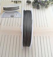 Тросик ювелирный, многожильный, сталь, 0,38 мм, 90 м/катушка