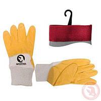 Перчатка INTERTOOL SP-0110W желтая х\б нитрил