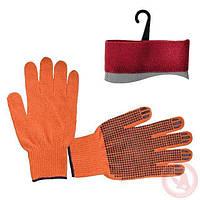Перчатка INTERTOOL SP-0131 х\б трикотаж оранжевая