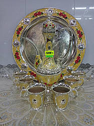 Набор мельхиор арт2010/6 рюмок+кувшин+разнос