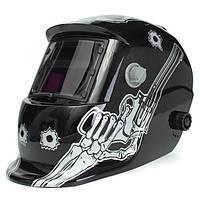 Череп с пистолетом солнечной сварщика Маска шлем электросварочного самозатемняющимися аргонодуговой МиГ маску сварщика объектива