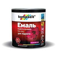 Эмаль для пола ПФ-266 Kompozit (желто-коричн, 2,8кг) (1/6шт)
