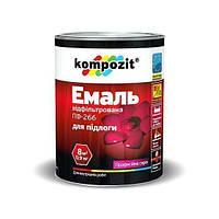 Эмаль для пола ПФ-266 Kompozit (красно-коричн, 0,9кг) (1/8шт)