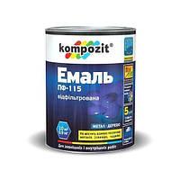 Эмаль ПФ-115 Kompozit (белый, 0,9 кг) (1/8шт) (шт)