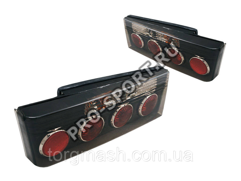 Задние фонари ВАЗ 2108, 2109, 21099, 2113, 2114 в черном корпусе, тонированные RS-01057