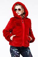 Полушубок женский красный. Размеры 42-52