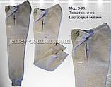 Брюки  женские утепленные трикотаж-начес. Синие, фото 6