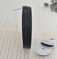 Тросик ювелирный, многожильный, черный, 0,38 мм, 90 м/катушка