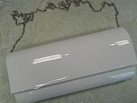Белый клатч женский лаковый стильный (Турция)