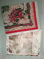 Скатерть новогодняя ПВХ 152*220 см, новогодние скатерти оптом от производителя