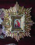 Спускная икона Пресвятой Богородицы средняя (дерево, позолота), фото 4