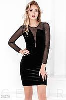 Бархатное платье декольтированное 42,44,46