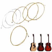 Набор из 6 медных гитарных струн для акустической гитары