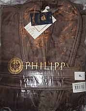 Мужской халат без капюшона Bleda коричневый, фото 2