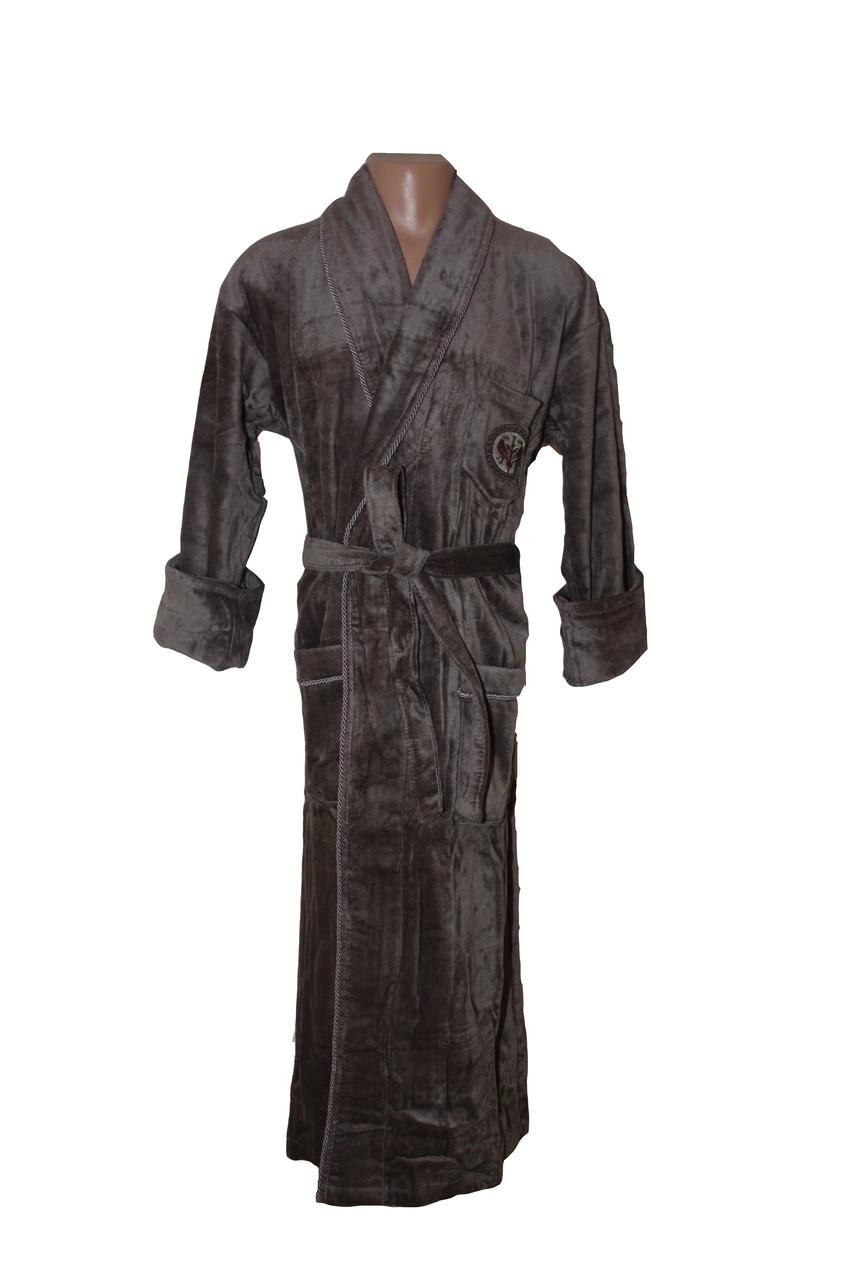 Мужской халат без капюшона Bleda коричневый