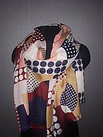 Стильный шарф хлопок абстракция