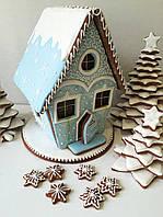 Ледяной пряничный домик на Новый год, Рождество, фото 1