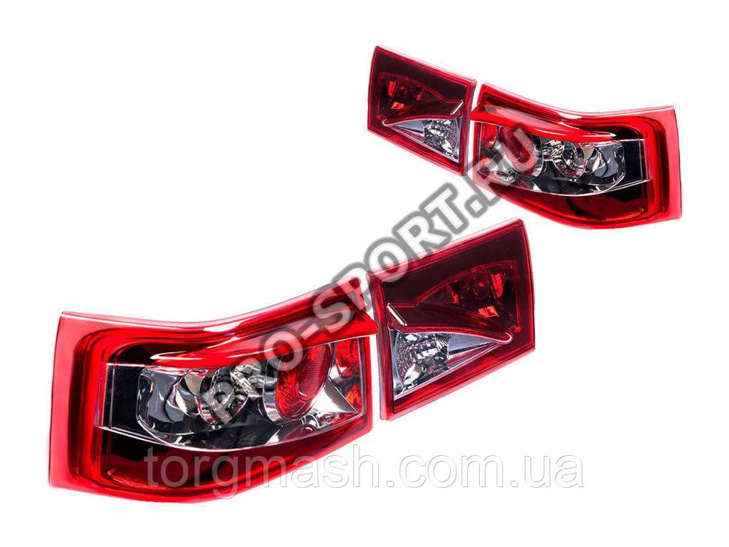 Задние фонари ВАЗ 2110, 2112, EagleStyle, хромированные RS-02813 pro-sport