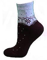 Носки с орнаментом (полумахра)