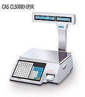 Весы торговые CAS CL5000J-IP/R 6 с печатью этикеток